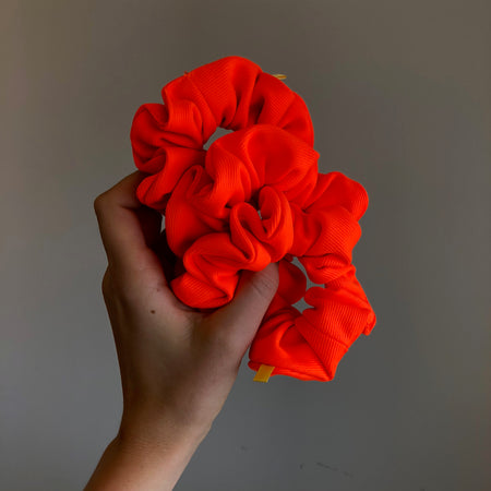 'NEON LIGHTS' TEXTURED COTTON SCRUNCHIE
