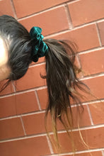 Load image into Gallery viewer, 'EMERALD CITY' VELVET SCRUNCHIE
