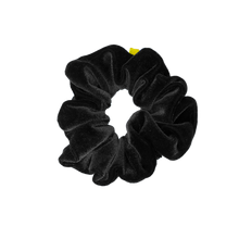 Load image into Gallery viewer, 'IN SPADES' BLACK VELVET SCRUNCHIE