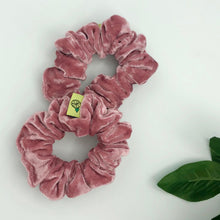Load image into Gallery viewer, 'COMING UP ROSES' VELVET SCRUNCHIE