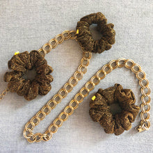 Load image into Gallery viewer, 'FOOL'S GOLD' SCRUNCHIE