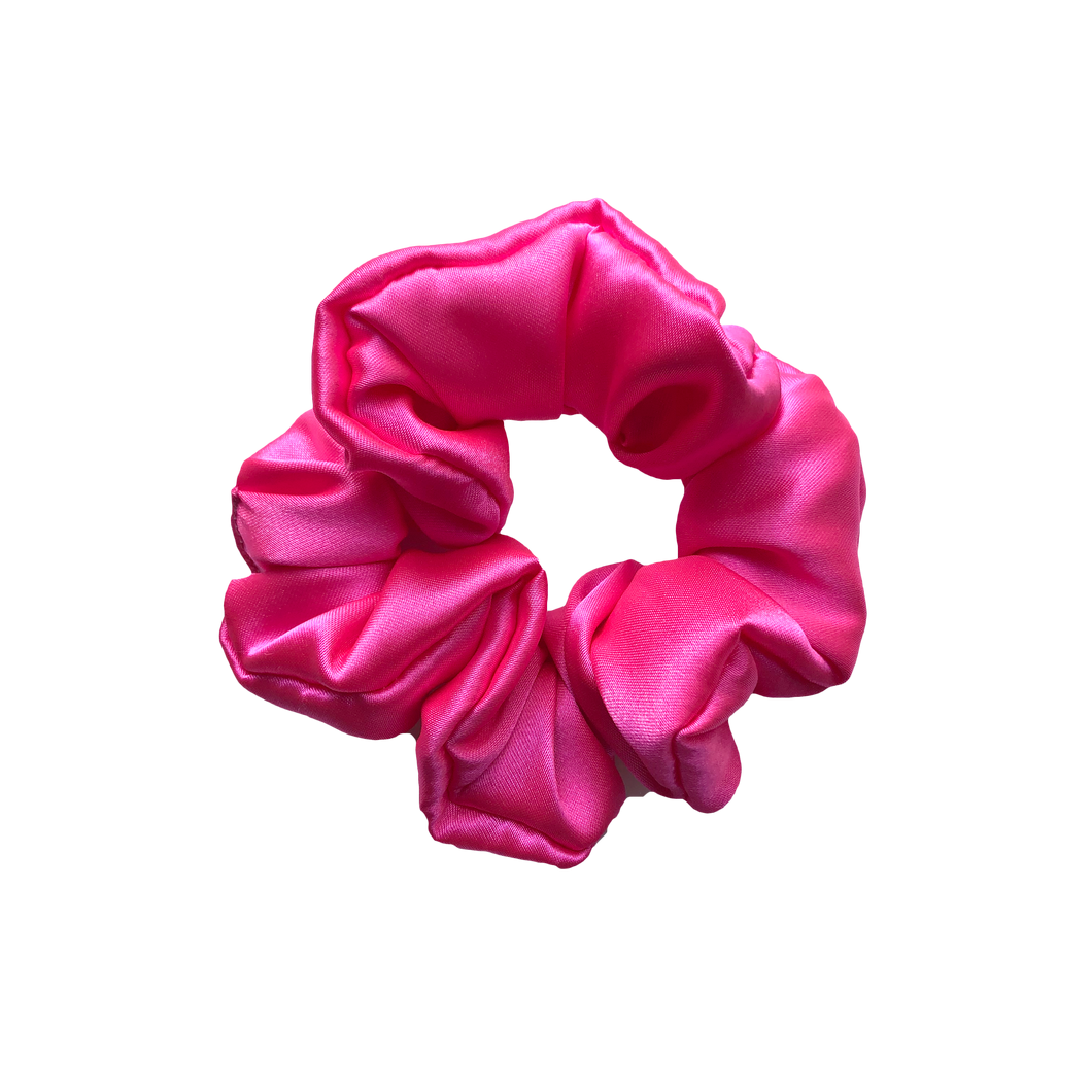 'LITERALLY' PINK SILK SCRUNCHIE