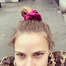 Load image into Gallery viewer, 'PINOT NOIR' CRUSHED VELVET SCRUNCHIE