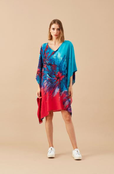 CAFTAN CURTO FLOR DO MAR