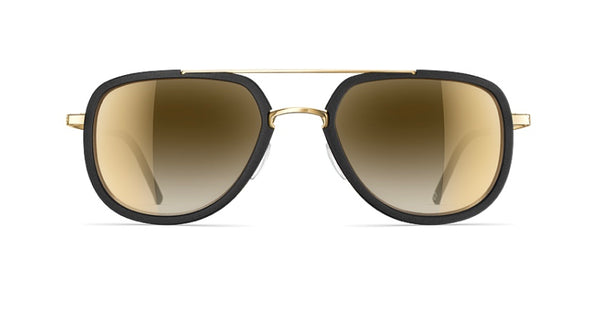 Neubau Erwin 3D Sunglasses - Black coal/glorious gold