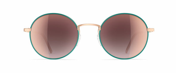 Neubau Felix Silky rose matte/green Sunglasses