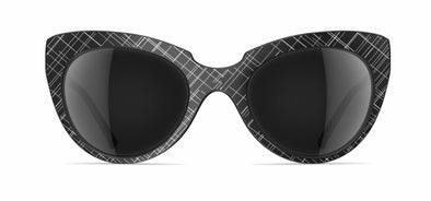 Neubau Carla Black/white matte scribbled Sunglasses