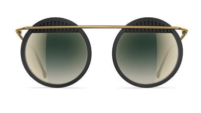 neubau Walter & Wassily Special Edition Sunglasses - Black Coal/Brass Matt