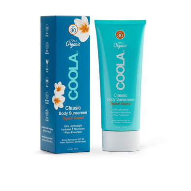 COOLA Moisturizing Body SPF 30 Coconute Organic Sunscreen Lotion