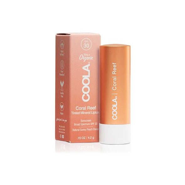 Coola Mineral Liplux Organic Tinted Lip Balm SPF 30 Coral Reef