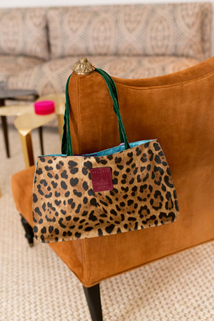 Hayward x ARossGirl Gloria Bag in Leopard Satin