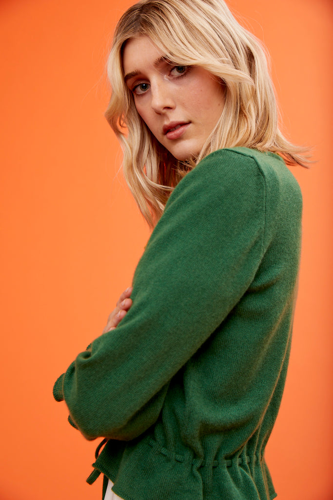 ARossGirl❤️Soler Amanda Cashmere Sweater in Green