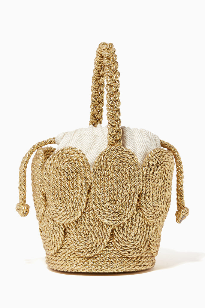 Mehry Mu Chacha Mini Bucket Natural Rope Bag