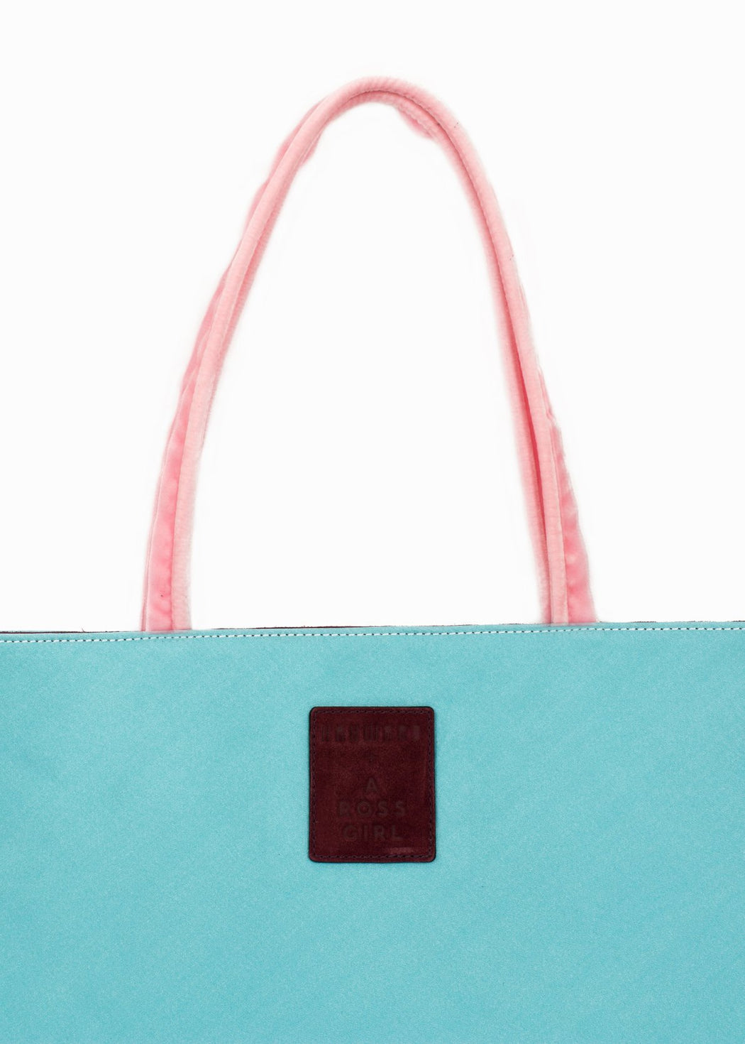 Hayward x ARossGirl Gloria Bag in Turquoise Satin