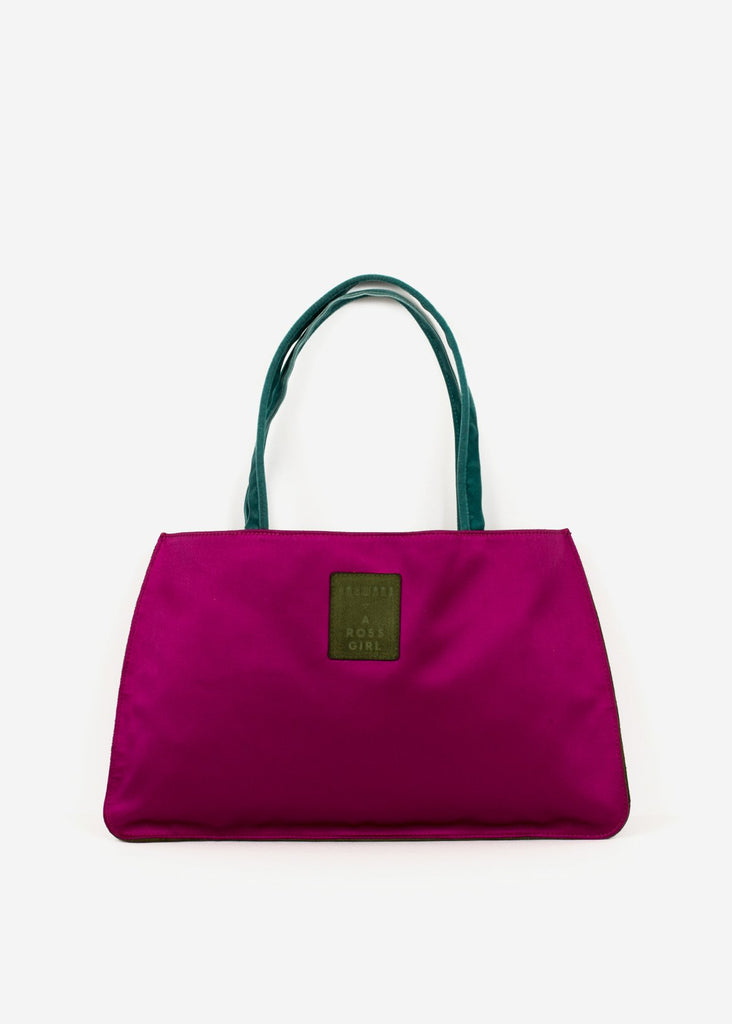 Hayward x ARossGirl Gloria Bag in Magenta Satin