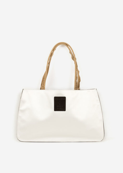 Hayward x ARossGirl Gloria Bag in White Satin