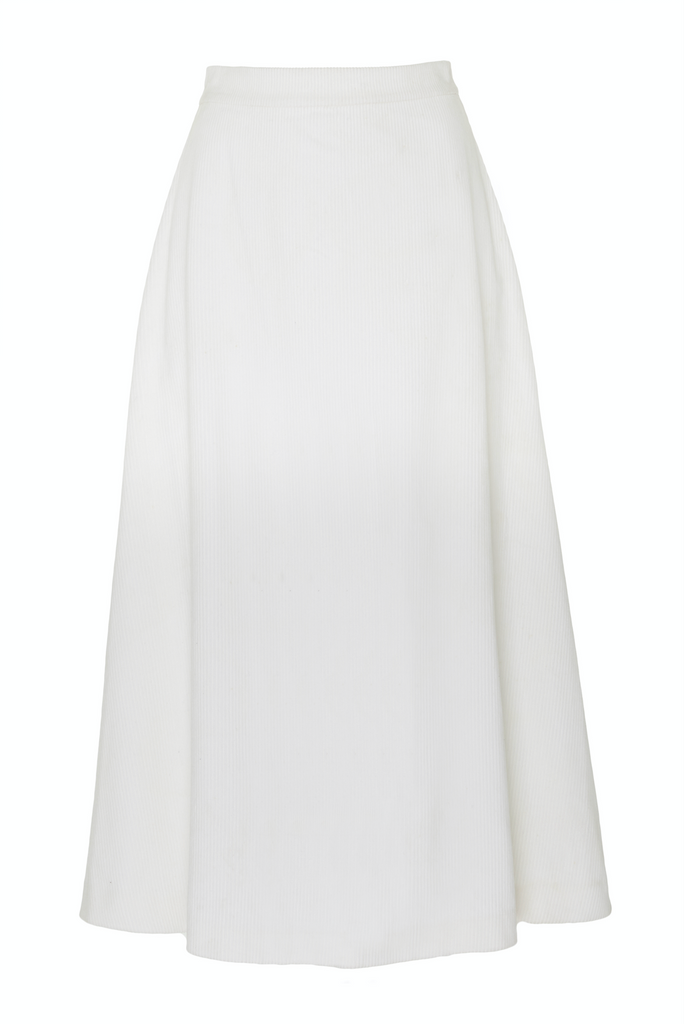 ARossGirl❤️Soler Alma Corduroy Skirt in White