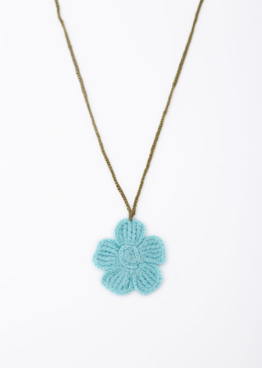 ARossGirl Pale Teal Flower Necklace