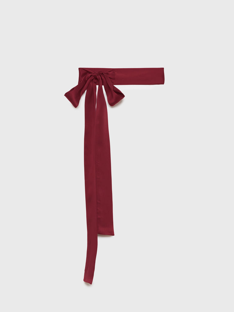 ARossGirl❤️Soler Silk Crepe Belt in Burgundy