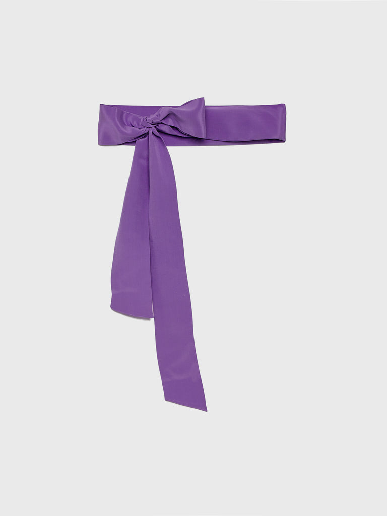 ARossGirl❤️Soler Silk Crepe Belt in Purple