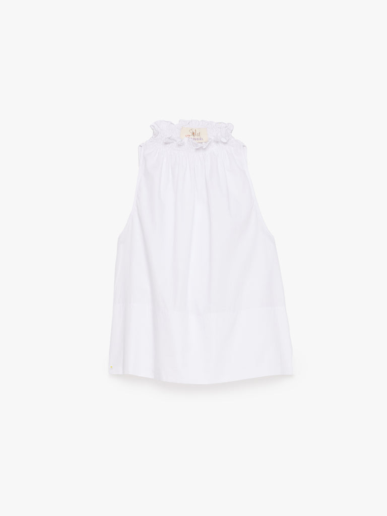 ARossGirl❤️Soler Gretchen Halter Cotton Top in White