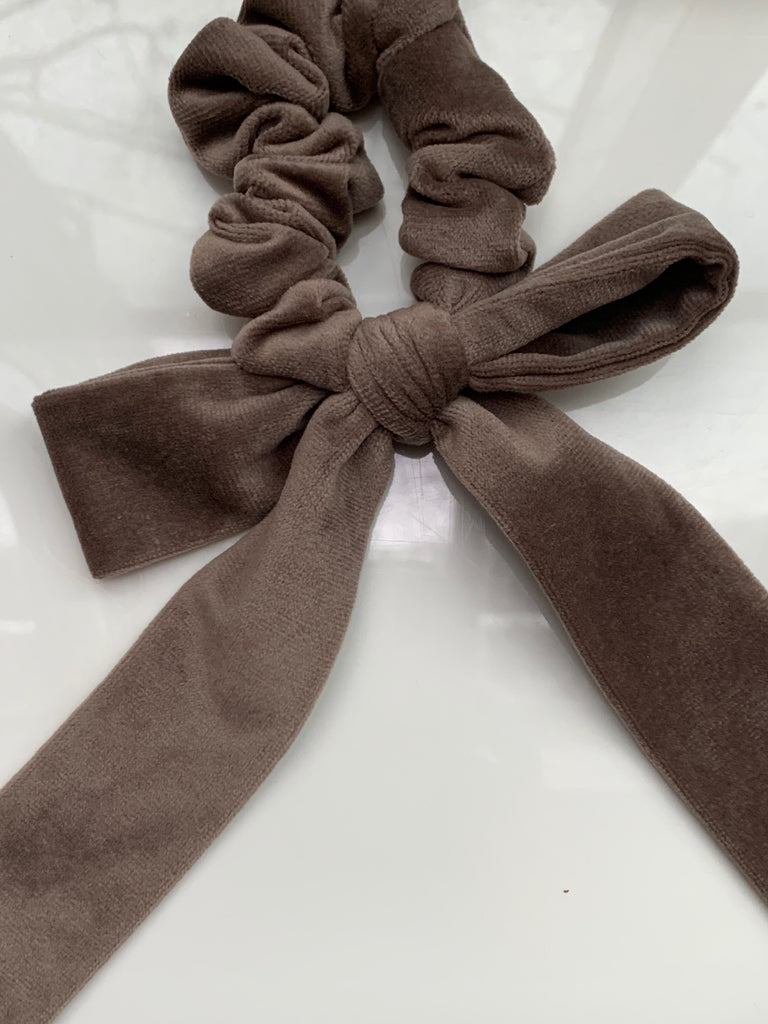 Born in the Sun Grey Velvet Bow