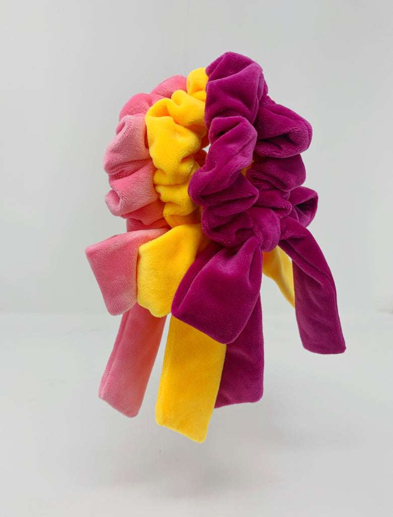 Born in the Sun Magenta Velvet Bow