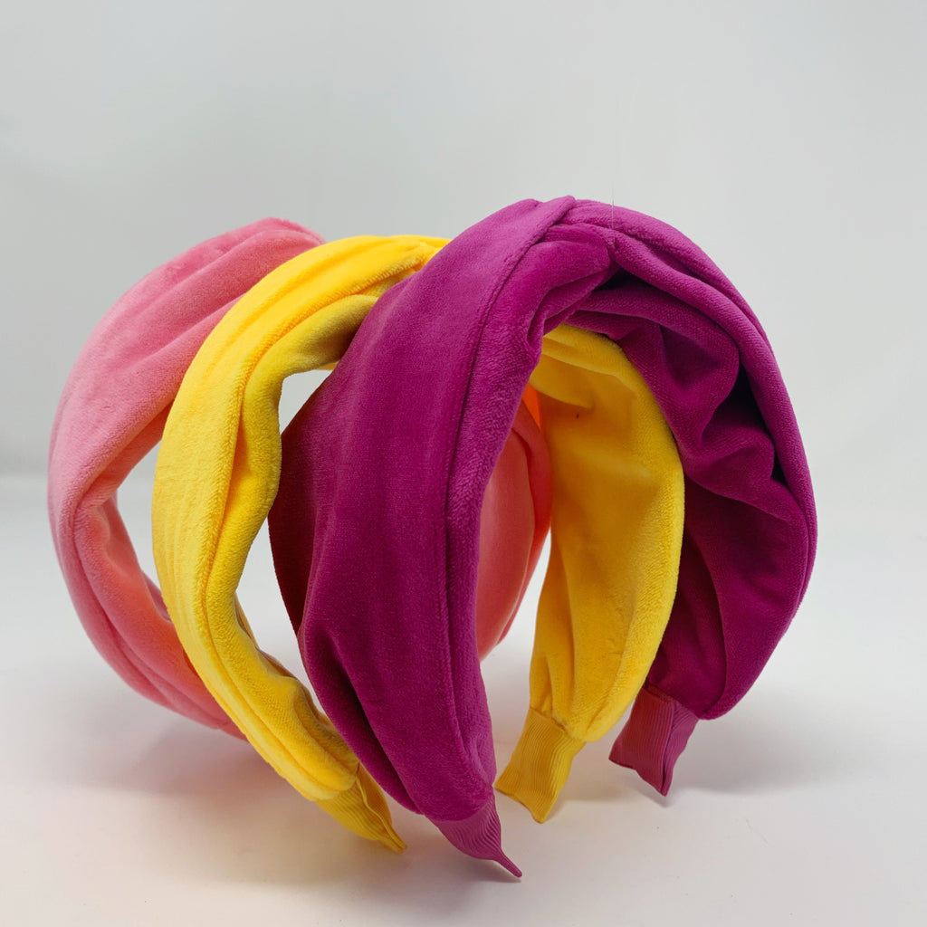 Born in the Sun Pink Velvet Headband