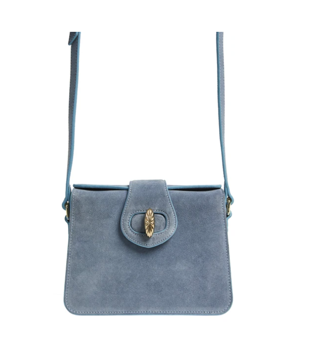 Mehry Mu Mini Neb Bag Blue Suede