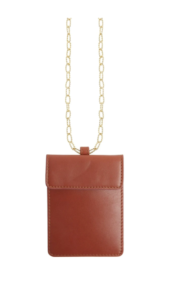 Mehry Mu Tan Calfskin Leather Mask Bag