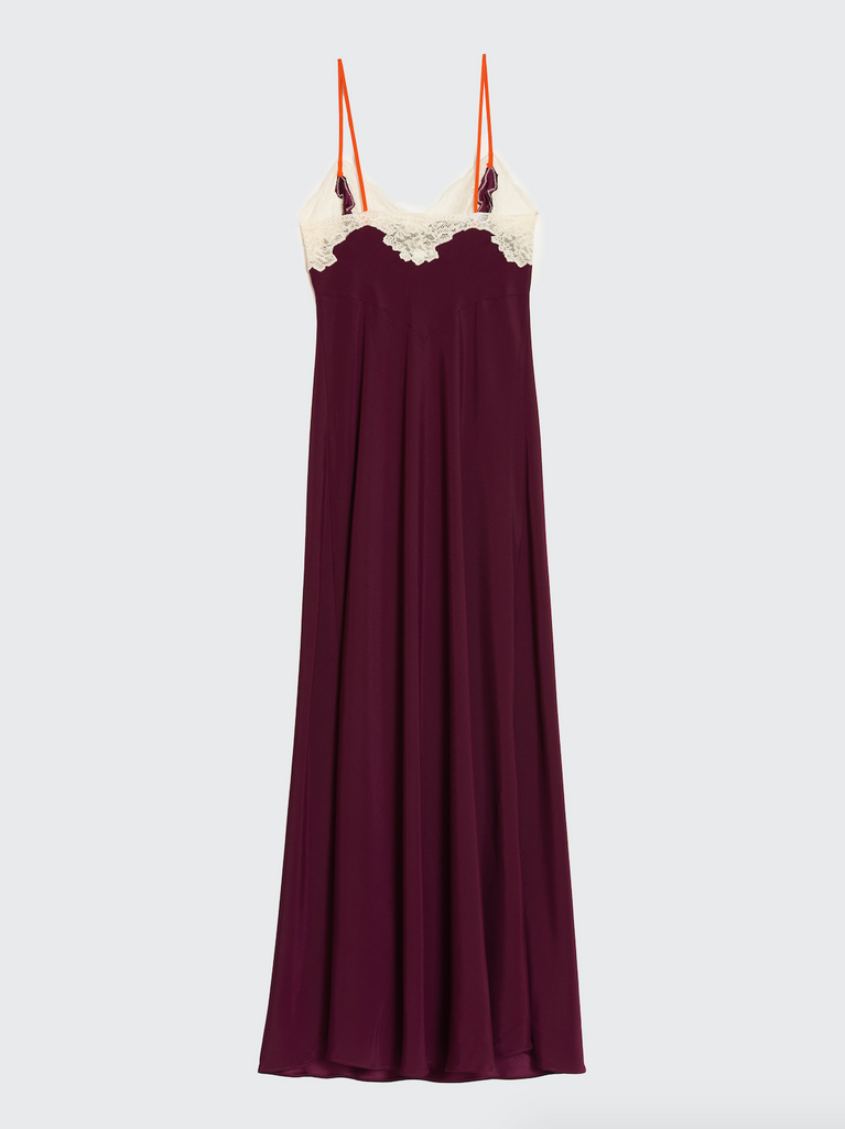 aRossGirl❤️Olatz Plum Silk Long Slip