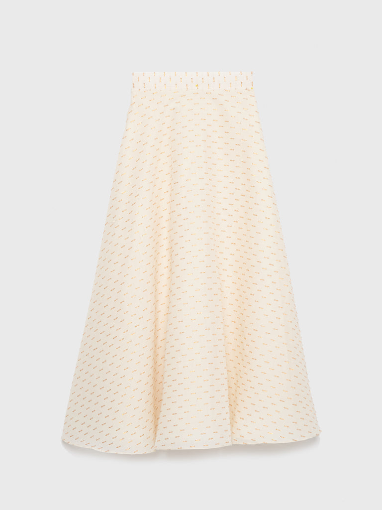 ARossGIrl❤️Soler Alex Circle Skirt in Metallic Fil Coupé Cotton