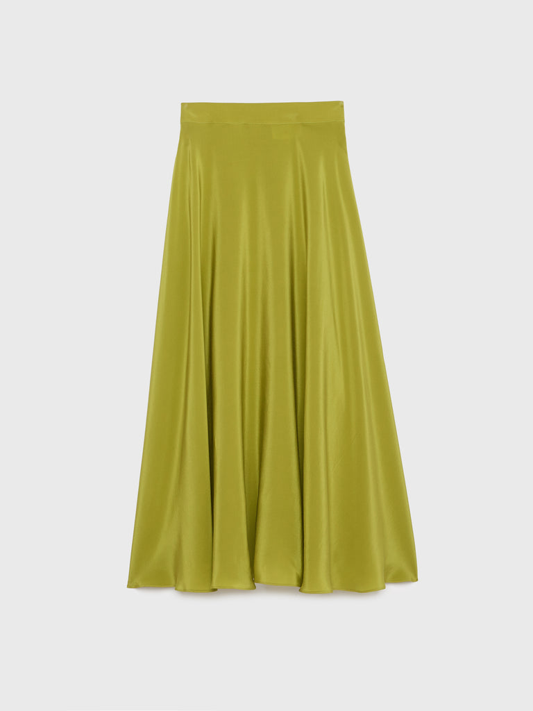 ARossGirl❤️Soler Alex Crepe Skirt in Funny Green