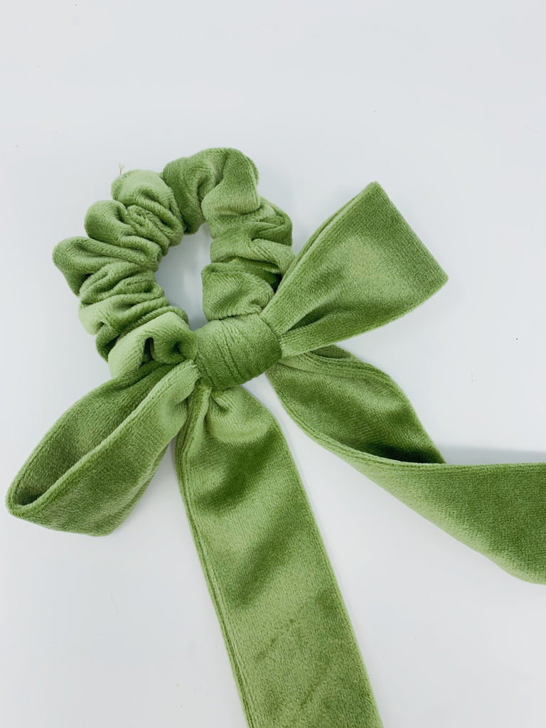 Born in the Sun Green Velvet Bow