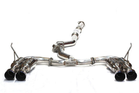 Invidia Gemini R400 Quad Tip Exhaust w/ SS Tips - WRX/STI Sedan (11-14)