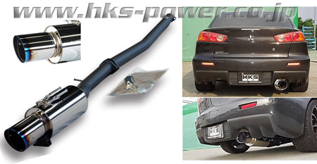HKS Hi-Power Catback Exhaust - EVO X (08-Up)