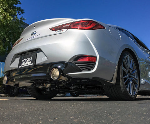 HKS Full Dual Hi-Power Catback Exhaust - Q60 (17-Up)