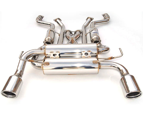 Invidia Gemini Exhaust w/ Rolled Stainless Steel Tips - 370Z (09-Up)