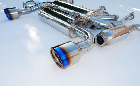 Invidia Gemini Exhaust w/ Rolled Titanium Tips - 370Z (09-Up)