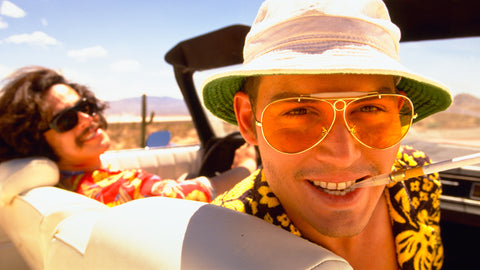 Yellow Vintage Sunglasses Fear and Loathing in Las Vegas Style