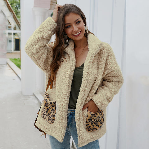 Fluffy Leopard Coat