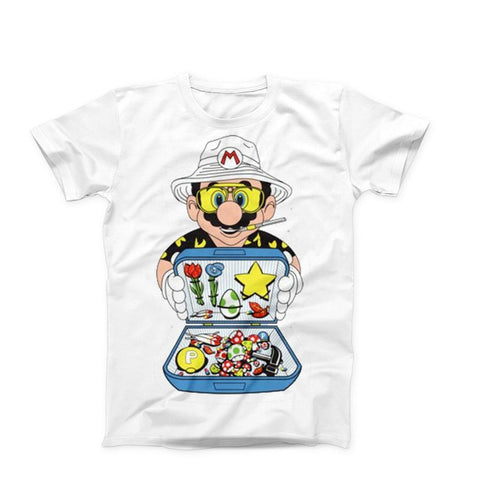 Super Mario Fear And Loathing In Las Vegas Lsd Dmt Mushrooms Shirt