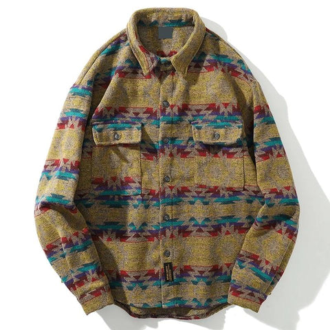 Tribal Flannel Shirt