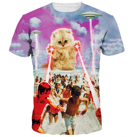Alien Cat Invasion Shirt
