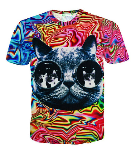 Psychedelic Cat Shirt