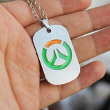 Glow in the Dark Overwatch necklace & keychain