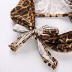 Backless Leopard Bandage Metal Ring Top