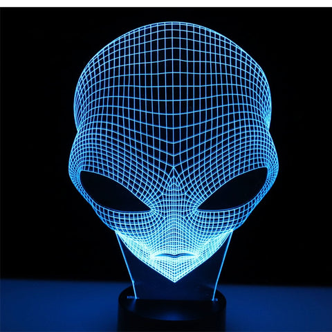 3D ALIEN LED Night LIGHT