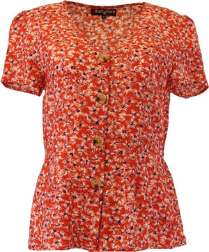 Rant & Rave Ida Coral Orange Top