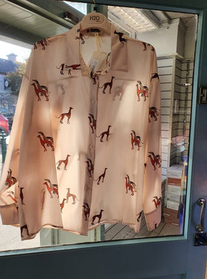 H20 Italia Dog Print Blush Shirt